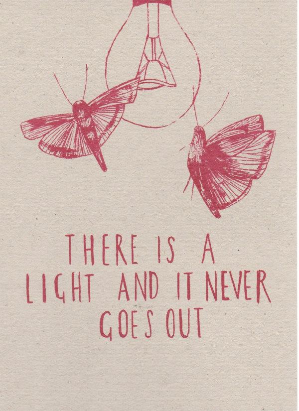valentines light card