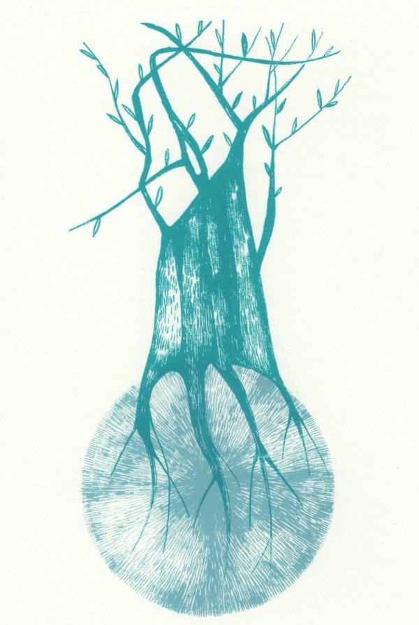 screenprint tree