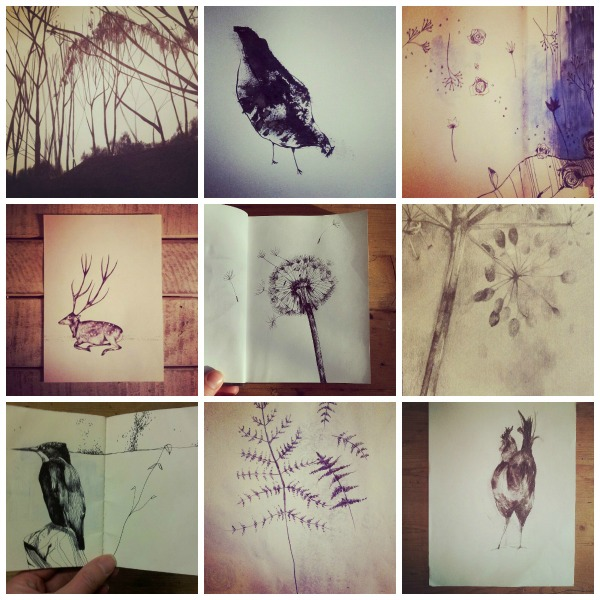 drawing collage