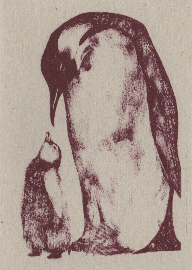 christmas card penguin 22