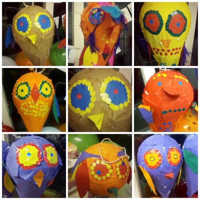 owl party collage